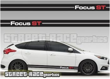 Ford Focus ST racing stripe graphics from www.street-race.org