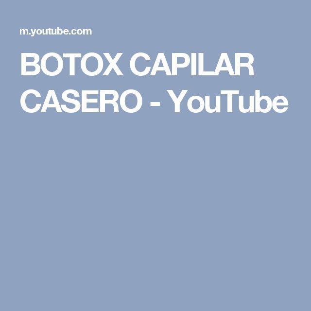 BOTOX CAPILAR CASERO - YouTube