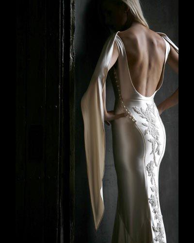 back: Ideas, Backless Wedding Dresses, Fashion, Style, Beautiful, Wedding Gowns, Dress Wedding, White