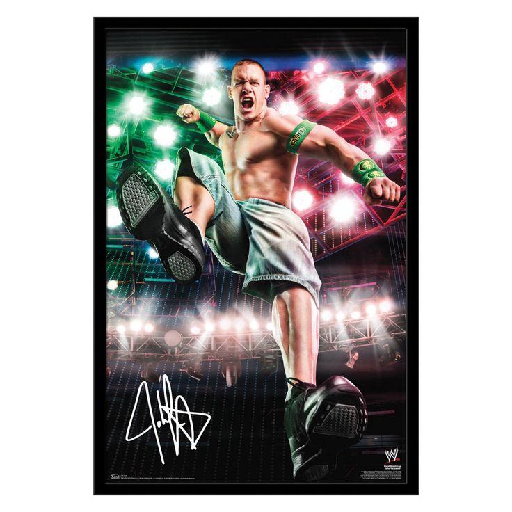 Trends International WWE - Cena - Boom Wall Poster - 22W x 34H in. - FR6349BLK22X34
