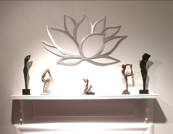Lotusbloem metaal kunst aan de muur Lotus Metal door INSPIREMEtals