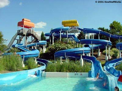 how water slides work water slides pinterest water slides