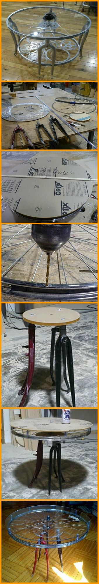 Recycling + Creativity = A unique table. http://theownerbuildernetwork.co/25qx