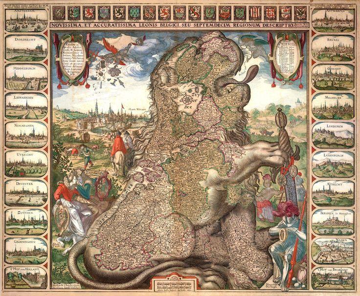 Novissima, et Accuratissima Leonis Belgici, seu Septemdecim Regionum Descriptio. Auct: N.I. Visschero. - Visscher C.J. , c. 1611.