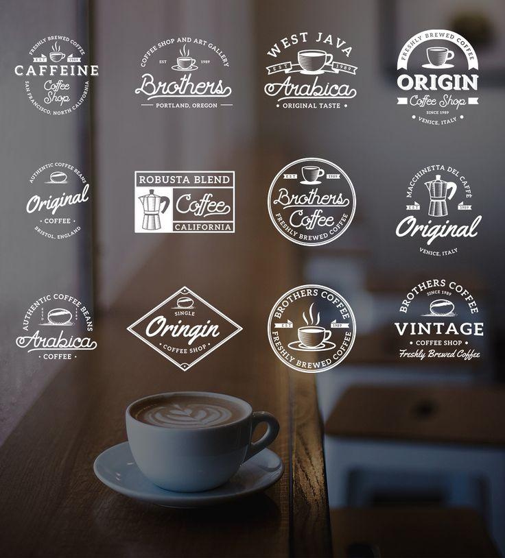 Vintage Coffee Logo Badges Vol. 3 by dreamwaves on @creativemarket