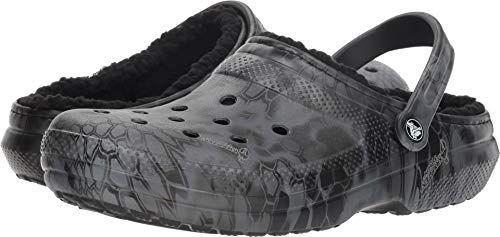 44da9a80ab2e Crocs Unisex Classic Kryptek Typhon Lined Clog Black 12 Women   10 Men M US  Medium