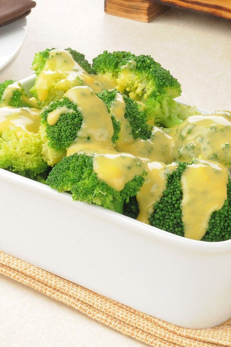 Broccoli with Cheese Sauce (Weight Watchers)
