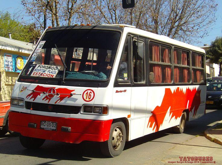 https://flic.kr/p/ZUEhaH | ← Buses Nuevo Amanecer Cauquenes ©→ | Marcopolo Senior GV - M.Benz - Urbano Linea 1 - imagen Sergio Arteaga 2016 - Cauquenes  (TATOBUSES)