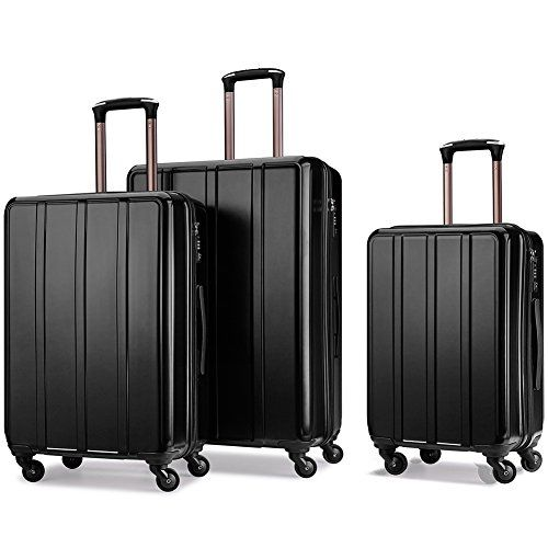 "#Luggage #Set #Suitcase #Set #Hard Shell #Luggage #Lightweight #Luggage #Spinner #Luggage #Set - #3 #Piece with #TSA #lock PC+ABS #Waterproof with Hanger(20"" 24"" 28"") 【ABS+PC MATERIAL】Lightweight and durable ABS+PC #hard shell, brings together the advantages of both materials: heat-resistant, scratch-resistant, pressure-resistant and #waterproof. 【EXTERNAL PARTS】Smooth and silent 360-directional #spinner wheels, #TSA combination #lock protects your international fligh"