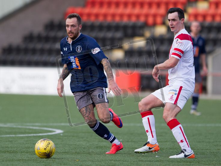Queen's Park's Darren Miller in action during the Ladbrokes League One game between Airdrieonians and Queen's Park.