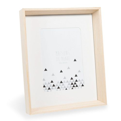 Cadre photo en bois 22 x 27 cm HOLMA