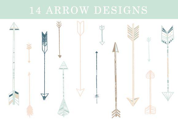 12 Arrow Designs by Shh! Maker Design on Creative Market