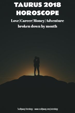 Find out what lays in store for Taurus in 2018. Sections for love, career, money and fun and adventure, broken down month by month. #astrology #Horoscope #2018 #yearly #romance #love #relationships #travel #Money #adventure #study #Taurus #career #work