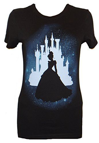 This T-shirt features Cinderella's silhouette againste her classic castle outline which can be seen in Disneyworld. - Officially licensed Disney T-shirt - Juniors are designed for teenagers or smaller                                                                                                                                                                                 More