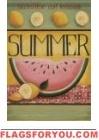 Watermelon Summer House Flag