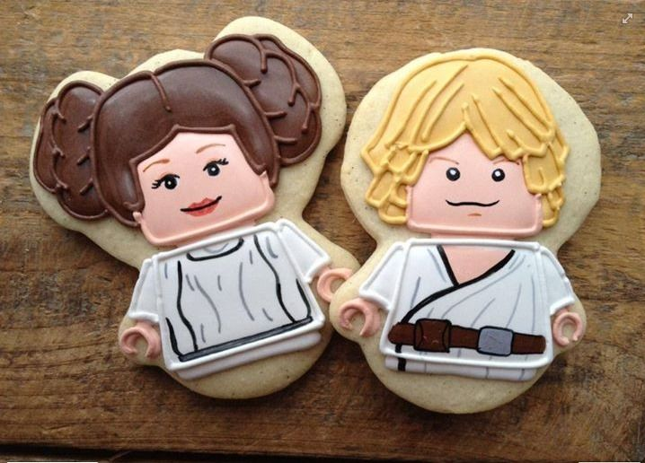 Lego Star Wars cookies by Cookie Cowgirl