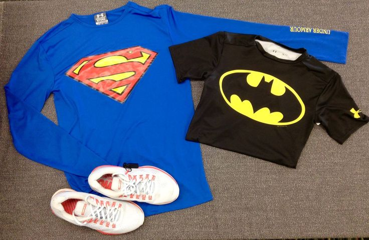 Train like a #superhero with this #Superman & #Batman #UnderArmour gear from #PlatosNewmarket! #BeastMode | www.platosclosetnewmarket.com