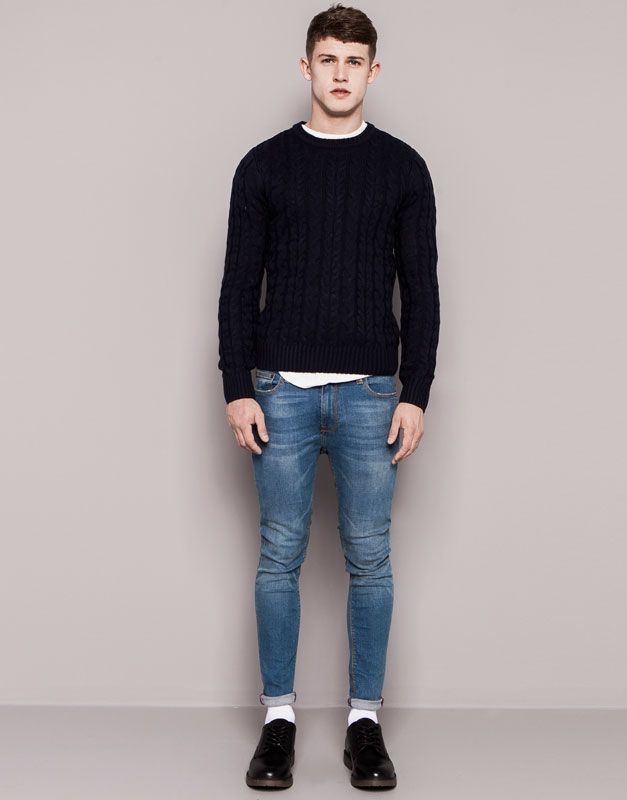 jeans super skinny fit pull and bear skinny jeans men jeans. Black Bedroom Furniture Sets. Home Design Ideas
