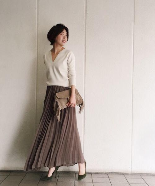 TODAYFULのプリーツロングスカート|詳細画像