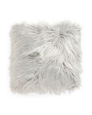 Faux Mongolian Fur Pillow