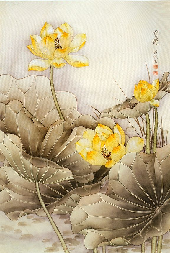 Asian Wall Decor Canvas Wall Art Feng Shui Painting Chinese Painting
