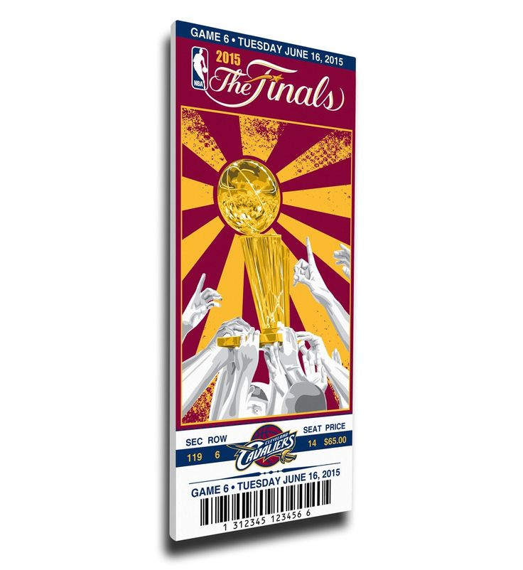 Cleveland Cavaliers Wall Art - 2015 NBA Finals Game 6 Canvas Mega Ticket