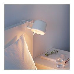 IKEA - VARV, Spot à pince, , Peut se fixer facilement sur la tête de lit pour vous permettre de lire.Grâce au variateur d'intensité lumineuse, vous réglez la lumière selon vos besoins.Emet une lumière dirigée, idéale pour la lecture.Vous pouvez faire des économies d'énergie en réglant l'intensité lumineuse grâce au variateur.