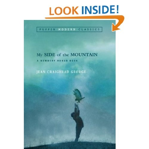 "Survival books for kids: ""My Side of the Mountain"" series and handbook, by Jean Craighead George (recommended by @Wendy Lee Knight Nutty)"