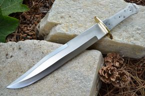 Large Coffin Bowie Short Sword w/Brass Guard ...