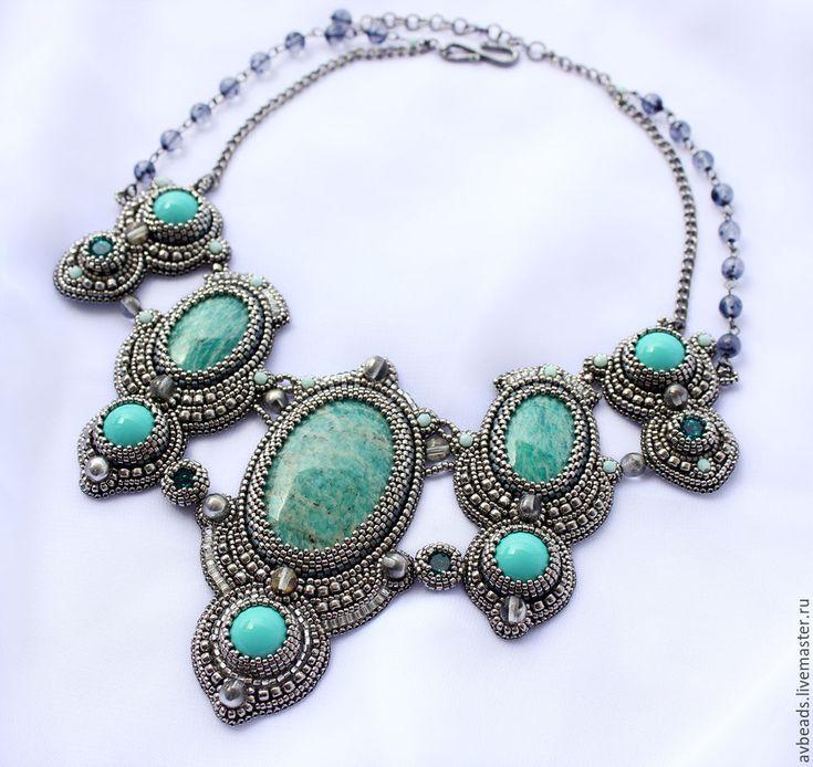 """Купить Колье """"Silver Princess"""" - элитные украшения, дорогое колье, подарок для женщины, подарок для руководителя"""