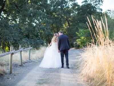 Gorgeous couple on the Oak Grove Trail at The Oregon Garden