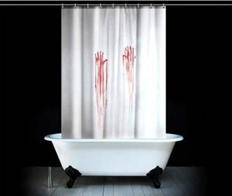 29 best worst presents ever images on pinterest ha ha for Psycho shower curtain and bath mat