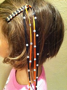 how to make 80's ribbon barrettes - Google Search    this would be neat in Minion colors and with the eyes