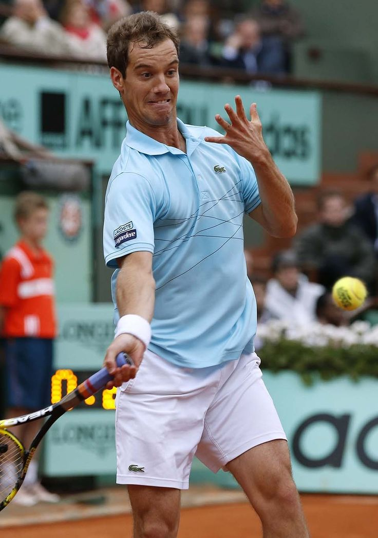 Richard Gasquet at the French Open 2013 Look at that face