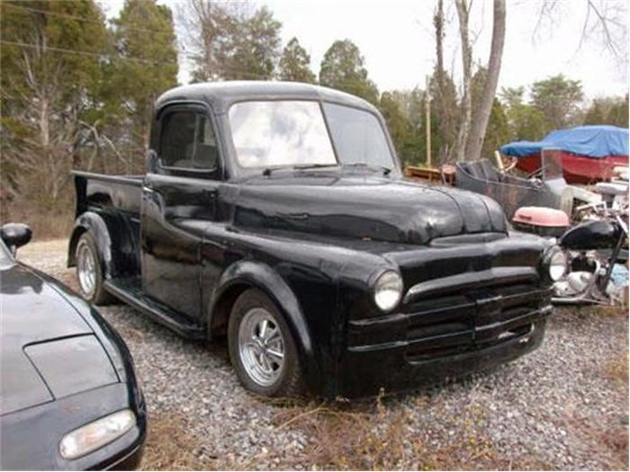 cloudy sky hinder 39 s this 1950 dodge pick up truck re. Black Bedroom Furniture Sets. Home Design Ideas