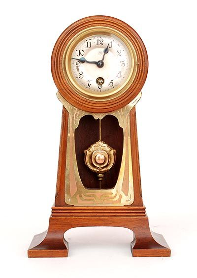Charming Botterweg Auctions Amsterdam Art Nouveau Table Clock With Junghans Winding  Movement Wood Cabinet With Brass Fittings Designer Execution Unknown /  Germany