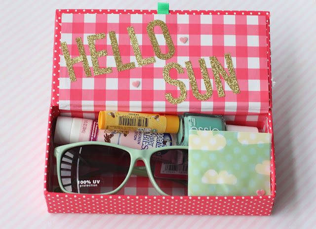 Summer boxes for friends, also can be changed up for Christmas too...