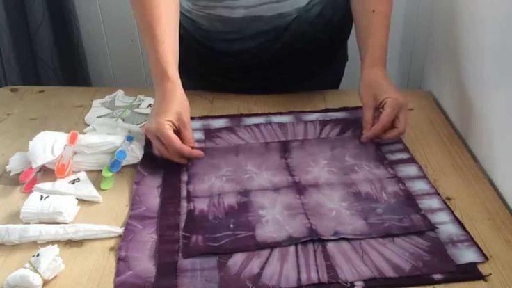Shibori folding tutorial--love the CD at the end