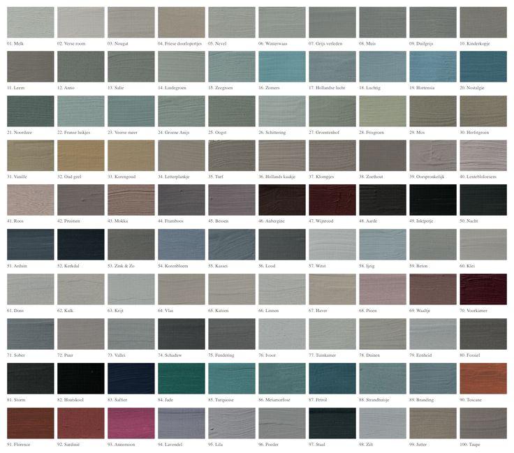 L' Authentique   kleurenkaart vergroot