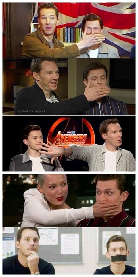 Tom, its not your fault. #marvel #cosplayclass #spiderman #doctorstrange #StarLo…