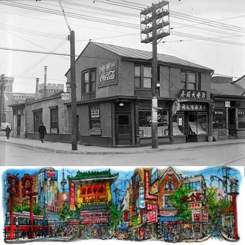 #TBT - #Toronto's Original Chinatown 1924 - Elizabeth St + Hagerman.
