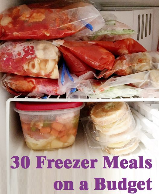 30 Days of Freezer Meal Planning: a Menu on a Budget. Includes grocery shopping list and menu planning free printables!