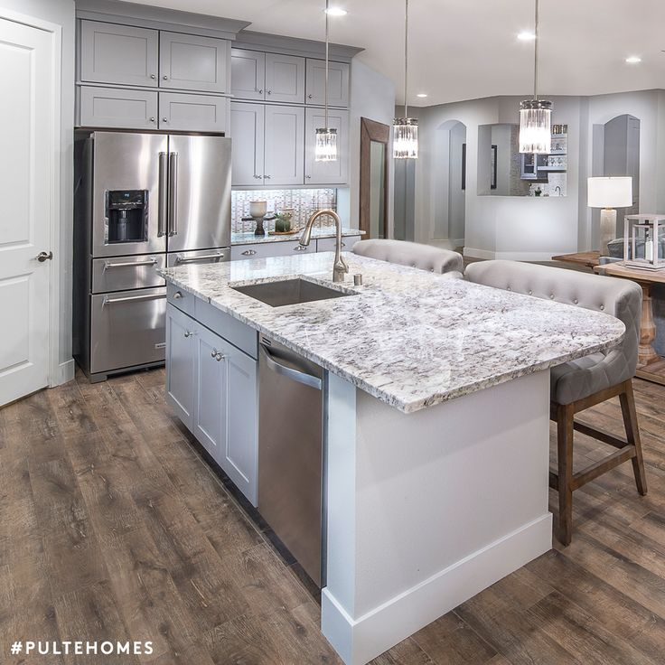 Superior This Inviting Kitchen Is The Epitome Of Refined Elegance In Chic, Soothing  Grays. Pulte Homes