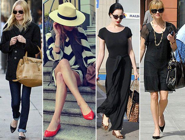 Mesmo sem salto, sapatos de bico fino dão a impressão de que você é mais alta. | 42 segredos de estilo que fazem toda a diferença no look