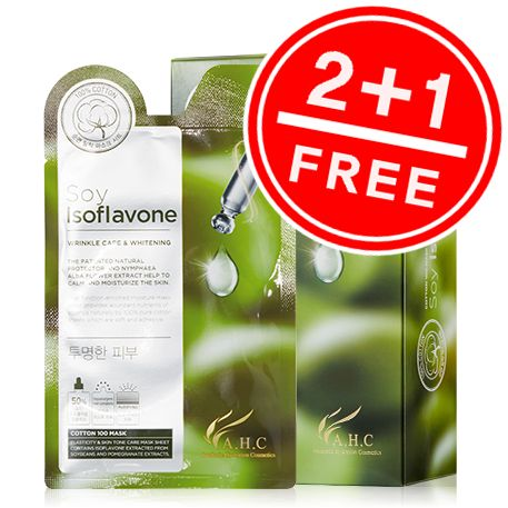 [A.H.C] Cotton Mask Soy Isoflavone (1Box)