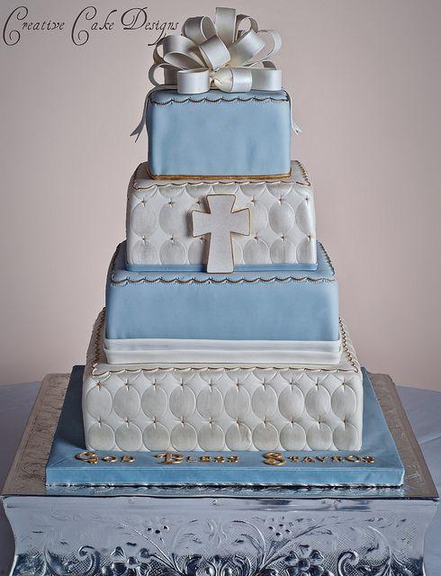 Vintage Baptism Cake by Creative Cake Designs (Christina), via Flickr