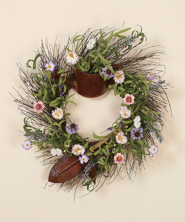 Cottage Garden Tools Wreath #zulily #zulilyfinds…great inspiration for a springtime wreath!