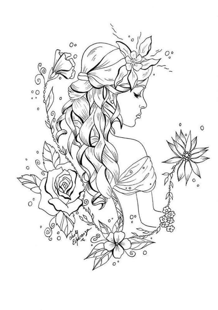 Flower Fairy Coloring Pages Coloringfile Fairy Coloring Pages Fairy Coloring Colouring Sheets For Adults