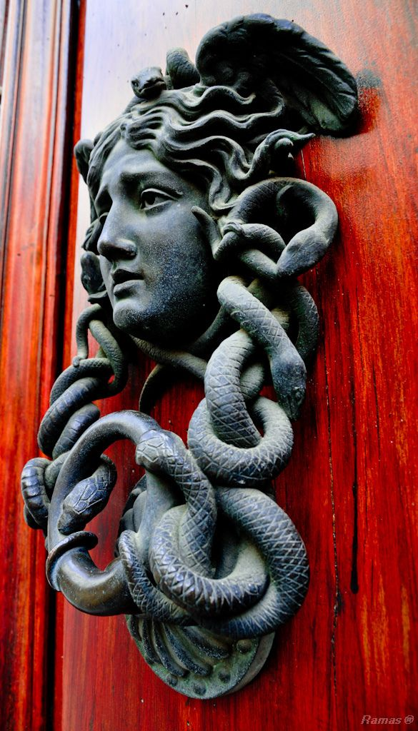 This is a fantastic cast bronze Medusa door knocker that I ran across somewhere.  Probably Flickr.  I'd love to be able to reproduce this in limited quantities.