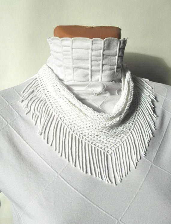scarf neckerchief solitaire beaded Beaded Necklaces jewelry